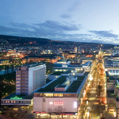 Stuttgart bei Nacht. Foto: Stuttgart Marketing
